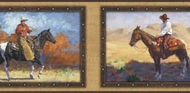 Framed Cowboy Horse Wallpaper Border WB5915bd