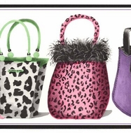 Funky Animal Print Purses Wallpaper Border RU8202b