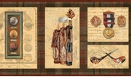Golf History Wallpaper Border LL65152b