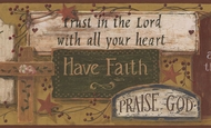 Have Faith Signs Wallpaper Border IB9969bd