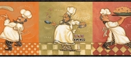 Italian Fat Chef Wallpaper Border KBE12641b