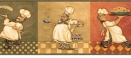 Italian Fat Chef Wallpaper Border KBE12642B