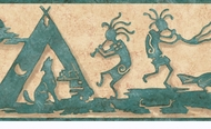 Kokopelli Wallpaper Border LL50031b