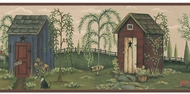Outhouses Wallpaper Border CN1100bd