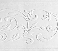 Paintable Delicate Leaves Wallpaper Border (33 feet long) PT1853b