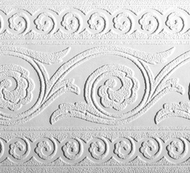 Paintable Rosettes Wallpaper Border (33 feet long) PT1888b