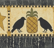 Pineapples, Crows and Stars Wallpaper Border 418b80973