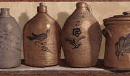Primitive Stoneware Jugs Wallpaper Border PC95163b
