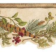 Red Lodge Berries Wallpaper Border TC48141b