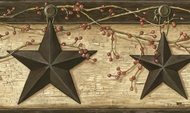 Rustic Barn Star Wallpaper Border PUR44602b