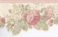 Scalloped Edge Floral Wallpaper Border WPB2457