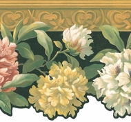 Scalloped Floral Wallpaper Border HA1298b