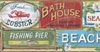 Seaside Beach Signs Wallpaper Border