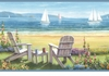 Seaside Cottage Wallpaper Border