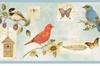 Songbird Collage Wallpaper Border