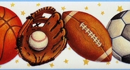 Sports Balls Wallpaper Border IF2339bd