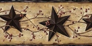 Stars and Berries Wallpaper Border BBC65362b