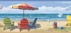 Summer At The Beach Border Wallpaper Border