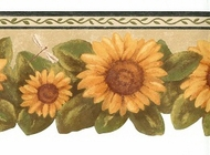Sunflower Dragonfly Wallpaper Border FT017202b