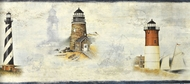 Sunset Waters Lighthouse Wallpaper Border DLR53502b