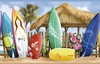 Surfside Beach Surfboard Wallpaper Border