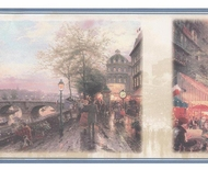 Thomas Kinkade France Paris Eiffel Wallpaper Border  30882620