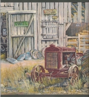 Tractor Barn Wallpaper Border CL41132b