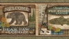 Tugalo Green Bear Paw Lodge Wallpaper Border TTL01561b