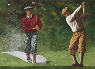 Vintage Golfers Wallpaper Border IN2650b