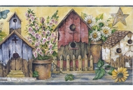 Waverly Birdhouses Wallpaper Border 5503940
