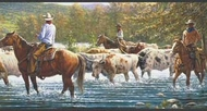 Western Cowboy Cattle Drive Wallpaper Border WB5903bd