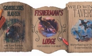 Wildlife Lodge Signs Wallpaper Border WD4132b