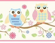 Wise Owls Wallpaper Border GIR94011b