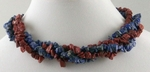 Lapis Necklace & Red Jasper Necklace; Wear as Torsade or Single Strands