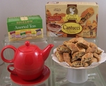 Positive Moments: Herbal Teas & Biscotti Set ~Choose Teapot Color~