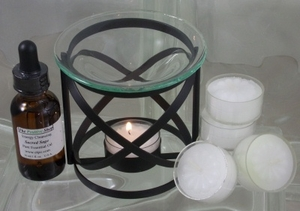 Sage Essential Oil & Warmer Set
