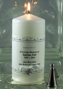 Sympathy Paw�: Pet Memorial Candle Set