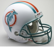 Authentic NFL Football Helmet Throwback - Miami 80-96