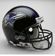 Full Size Authentic Riddell Football Helmet - Baltimore Ravens