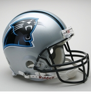 Full Size Authentic Riddell Football Helmet - Carolina Panthers