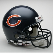 Full Size Authentic Riddell Football Helmet - Chicago Bears