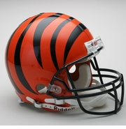 Full Size Authentic Riddell Football Helmet - Cincinnati Bengals