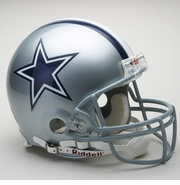 Full Size Authentic Riddell Football Helmet - Dallas Cowboys