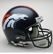 Full Size Authentic Riddell Football Helmet - Denver Broncos