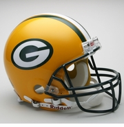 Full Size Authentic Riddell Football Helmet - Green Bay Packers