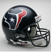 Full Size Authentic Riddell Football Helmet - Houston Texans