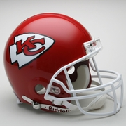 Full Size Authentic Riddell Football Helmet - Kansas City Chief