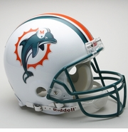 Full Size Authentic Riddell Football Helmet - Miami Dolphins