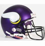 Full Size Authentic Riddell Football Helmet - Minnesota Vikings