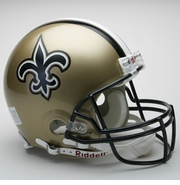 Full Size Authentic Riddell Football Helmet - New Orleans Saints